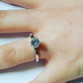 Sterling silver ring and aquamarine, Bijuterii de argint lucrate manual, handmade