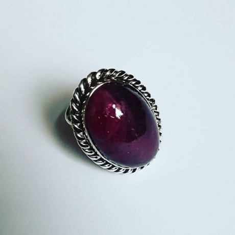 Sterling silver ring with natural ruby zoisite GoRubic, Bijuterii de argint lucrate manual, handmade