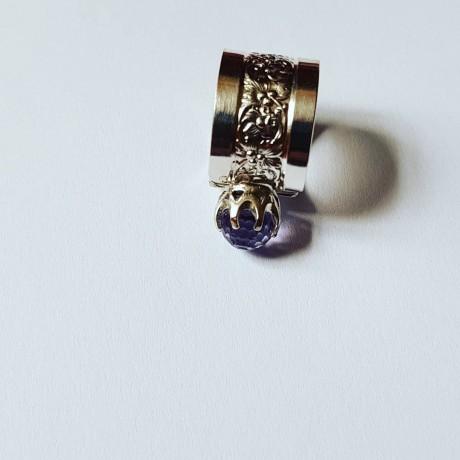 Sterling silver engagement ring LilaMoves, Bijuterii de argint lucrate manual, handmade