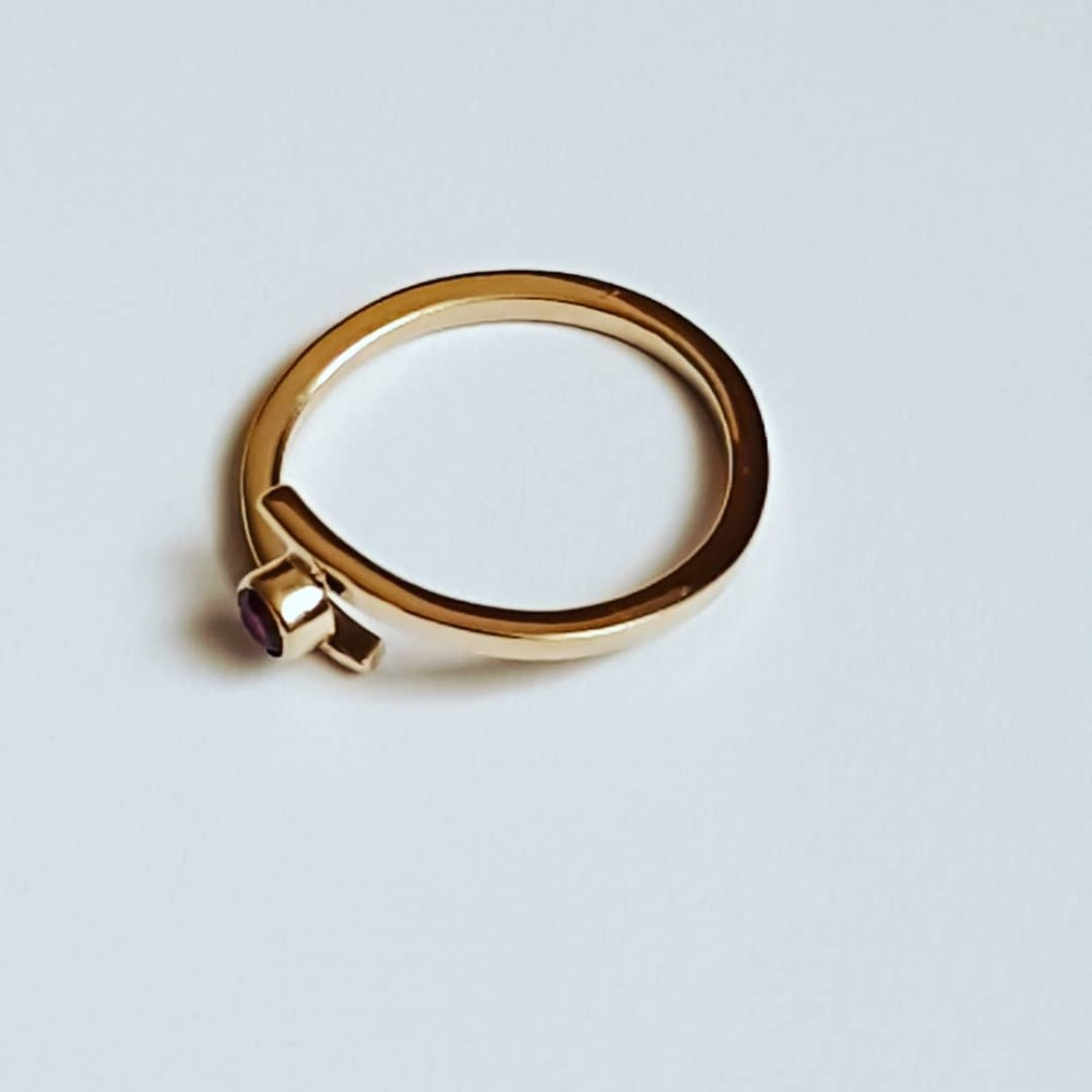 14k gold engagement ring LoveTwist