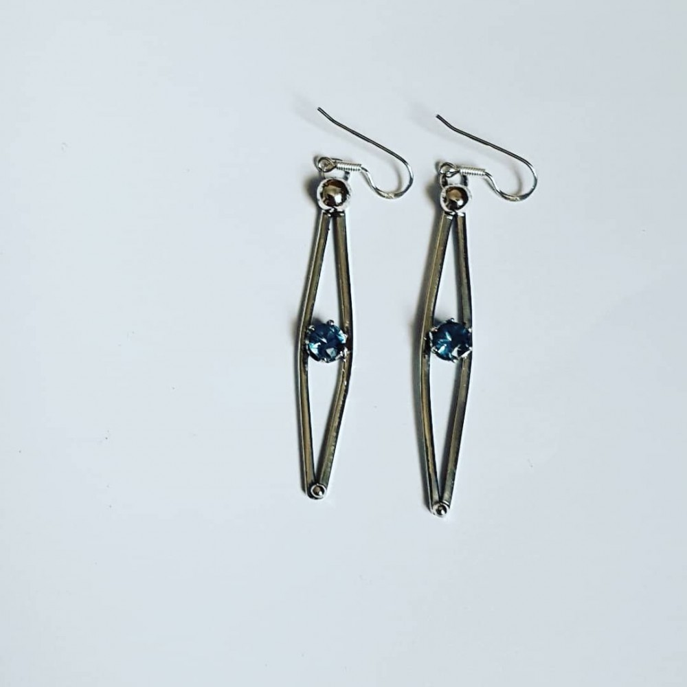 Sterling silver earrings and aquamarines LoveandDaggers