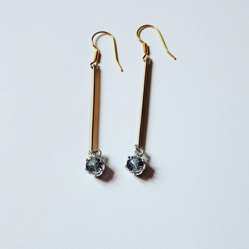 Sterling silver and 14k Gold earrings Golden Fibulae
