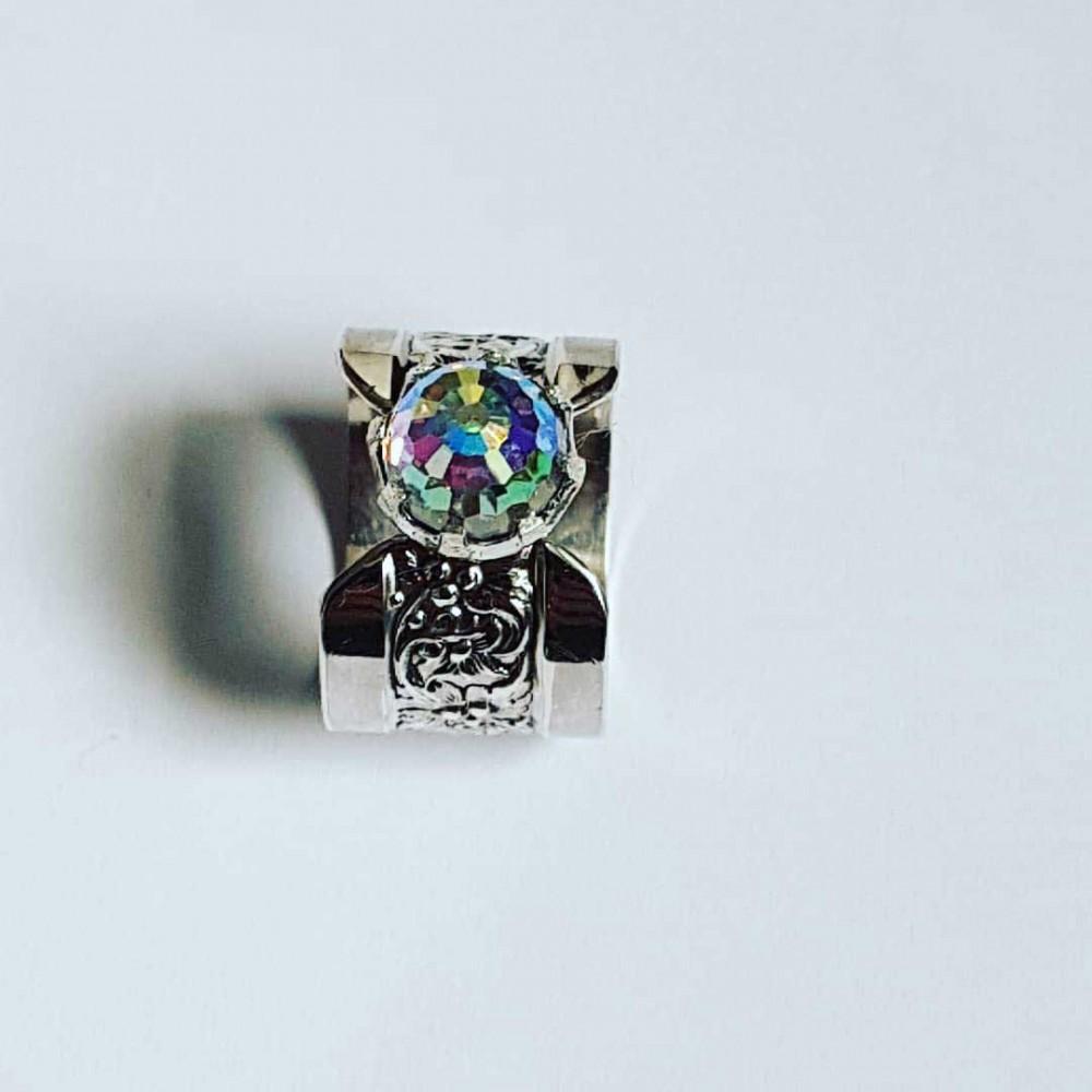 Sterling silver ring Rainbow Anima