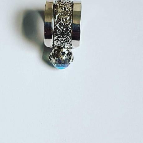 Sterling silver ring Rainbow Anima, Bijuterii de argint lucrate manual, handmade