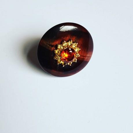 14k gold ring Planetoid, Bijuterii de argint lucrate manual, handmade