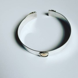 Sterling silver and gold cuff Hubby