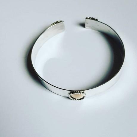 Sterling silver and gold cuff Hubby, Bijuterii de argint lucrate manual, handmade
