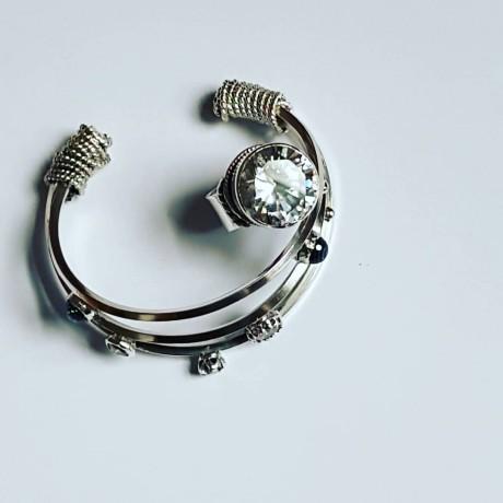 Sterling silver ring and zirconium, Bijuterii de argint lucrate manual, handmade