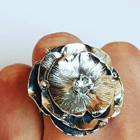 Sterling silver ring FlowerPoint, Bijuterii de argint lucrate manual, handmade