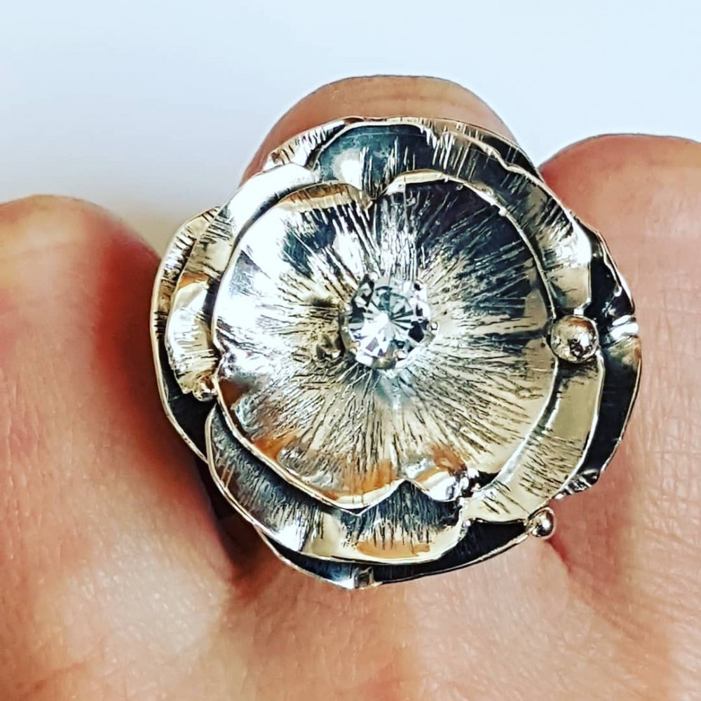 Sterling silver ring FlowerPoint