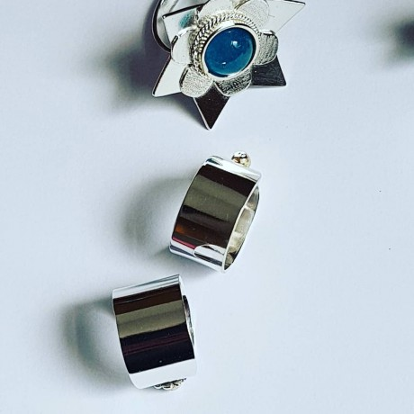 Sterling silver engagement rings Love Bandages, Bijuterii de argint lucrate manual, handmade