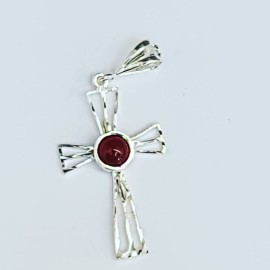 Sterling silver cross and carnelian, Bijuterii de argint lucrate manual, handmade