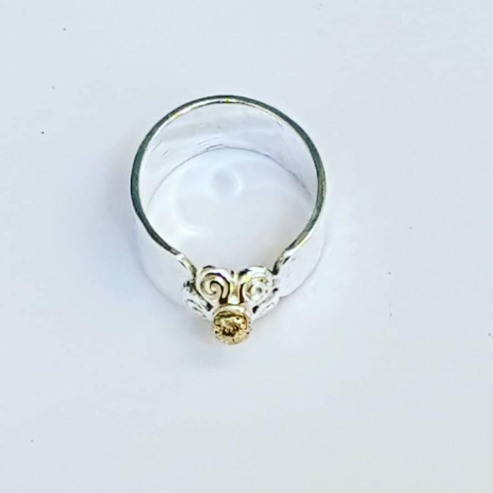 Sterling silver ring Loving Floss