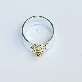 Sterling silver ring Loving Floss, Bijuterii de argint lucrate manual, handmade