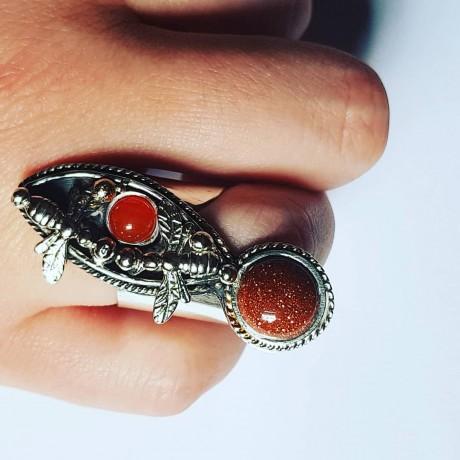 Sterling silver ring Landing, Bijuterii de argint lucrate manual, handmade