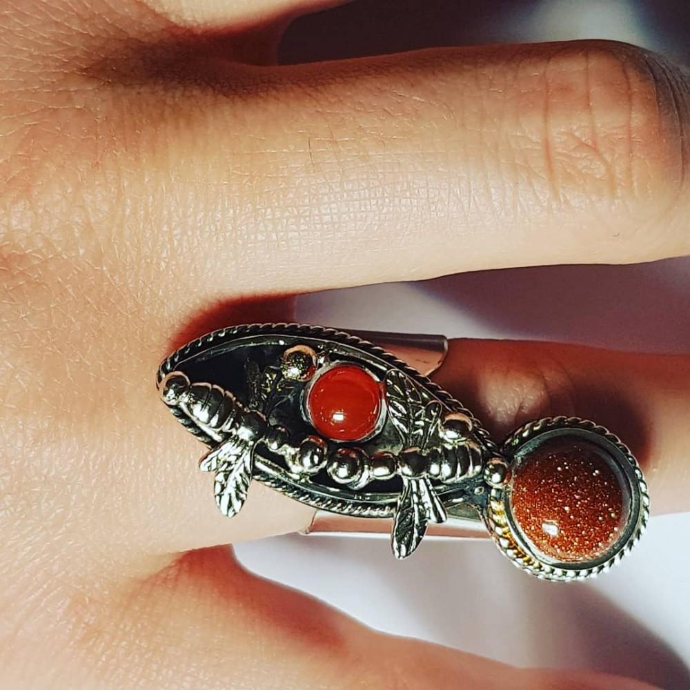 Sterling silver ring Landing
