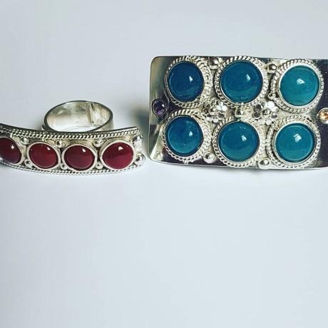 Sterling silver ring Titanesque, Bijuterii de argint lucrate manual, handmade