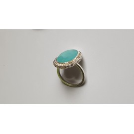 Sterling silver ring with natural aquamarine Invincible Blues