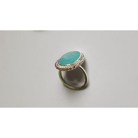 Sterling silver ring with natural aquamarine Invincible Blues, Bijuterii de argint lucrate manual, handmade