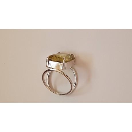 Sterling silver ring Lemon Sparkles, Bijuterii de argint lucrate manual, handmade