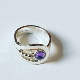 Sterling silver ring Bow Kiss