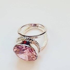 Sterling silver ring Starry Pinks