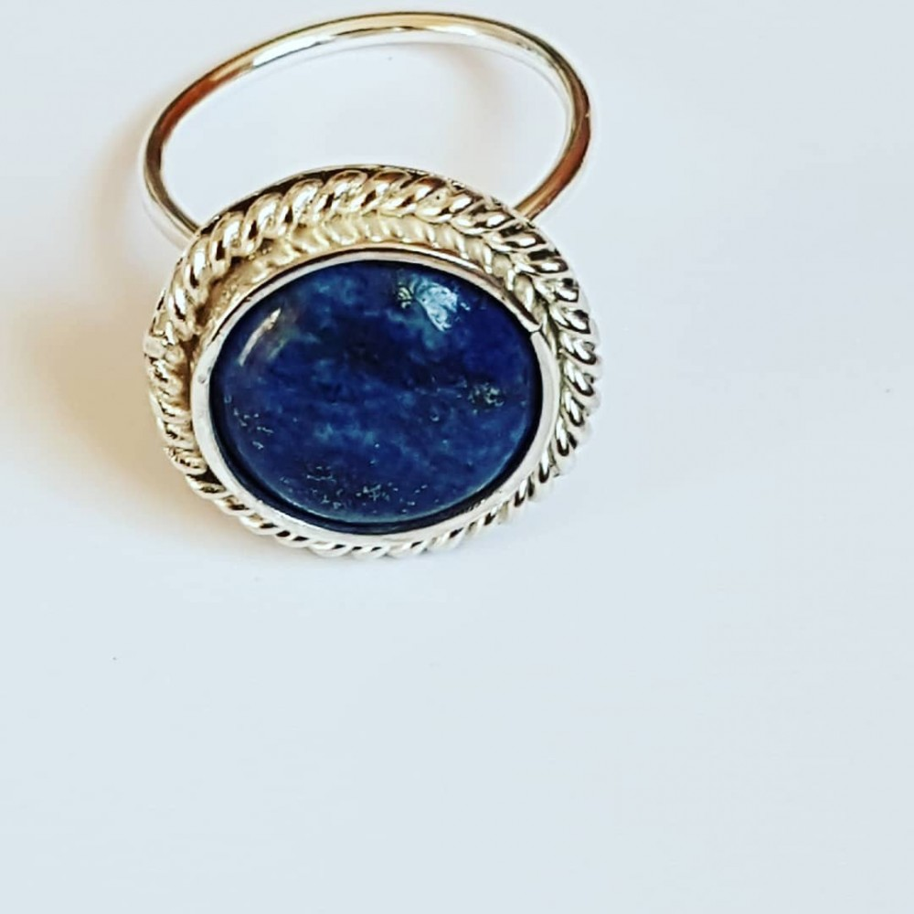 Sterling silver ring Lapis Graces
