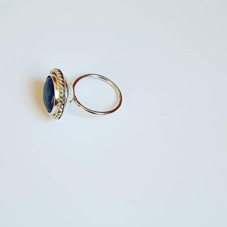 Sterling silver ring Lapis Graces, Bijuterii de argint lucrate manual, handmade