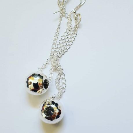 Sterling silver earrings Clubbin ', Bijuterii de argint lucrate manual, handmade