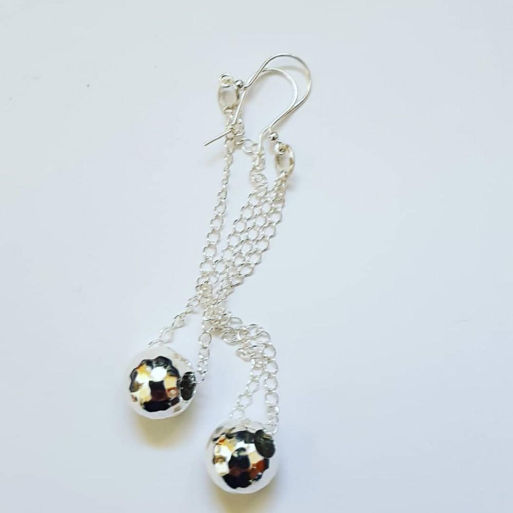 Sterling silver earrings Clubbin '