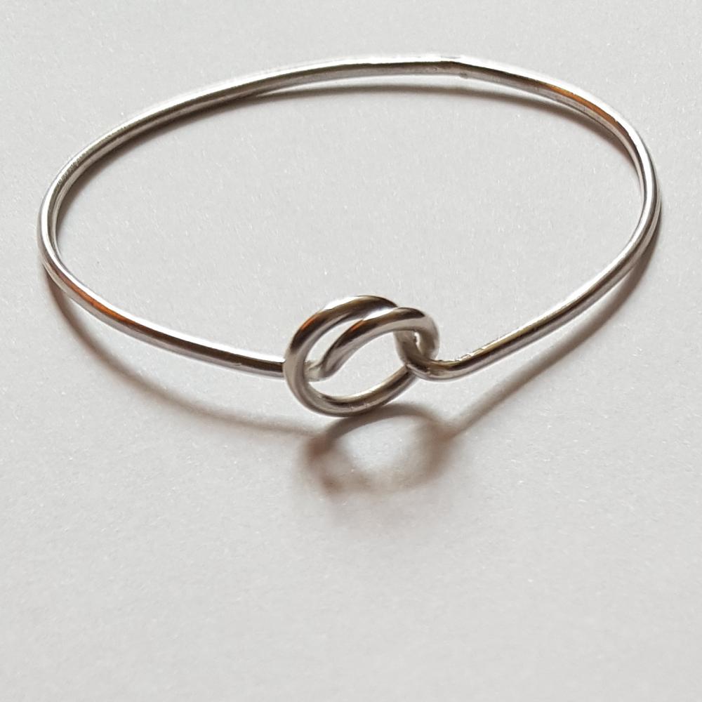Sterling silver bracelet Confluence