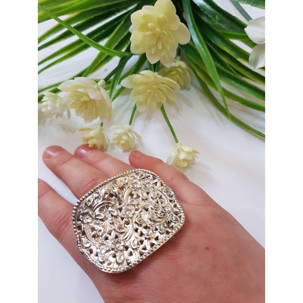 Sterling silver ring Flower Spawn