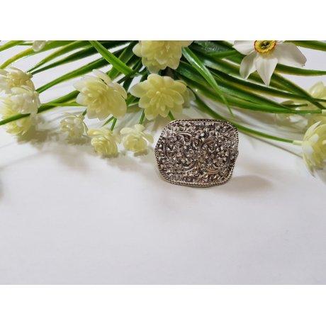 Sterling silver ring Flower Spawn, Bijuterii de argint lucrate manual, handmade