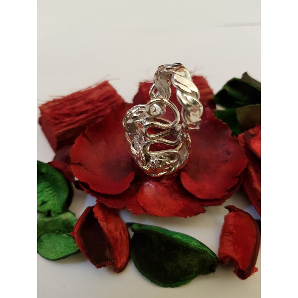 Sterling silver ring Twists and Turns