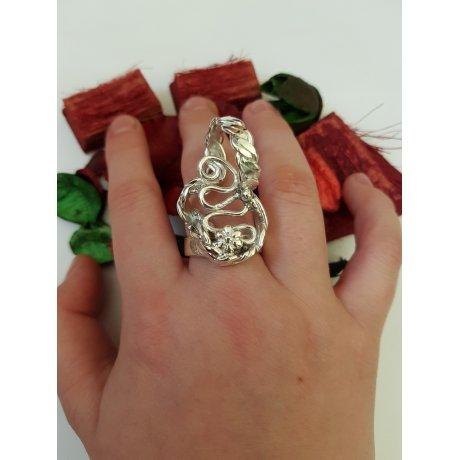Sterling silver ring Turns and Twist, Bijuterii de argint lucrate manual, handmade