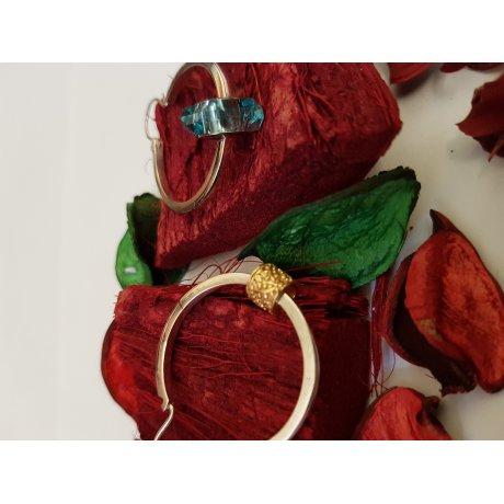 Sterling silver Earrings Must What Hoops, Bijuterii de argint lucrate manual, handmade