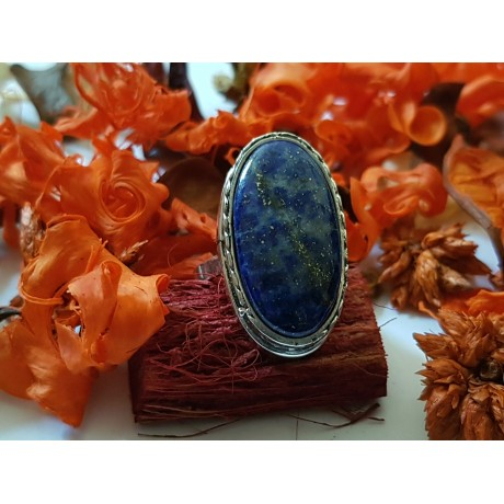 Sterling silver ring Fill of Chic with natural lapislazuli, Bijuterii de argint lucrate manual, handmade