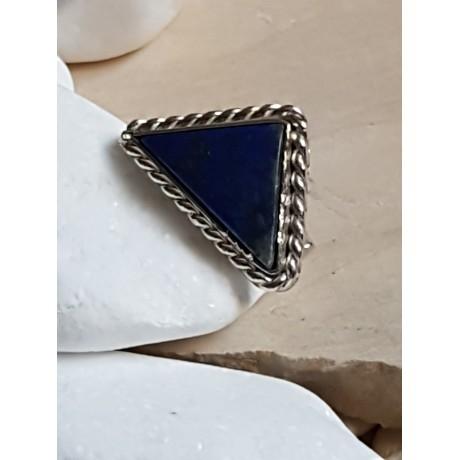 Sterling silver ring with natural lapislazuli natural Eye of Horus , Bijuterii de argint lucrate manual, handmade