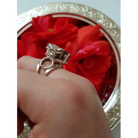 Gold and Sterling silver jewel Love 's Finest Morsel, Bijuterii de argint lucrate manual, handmade