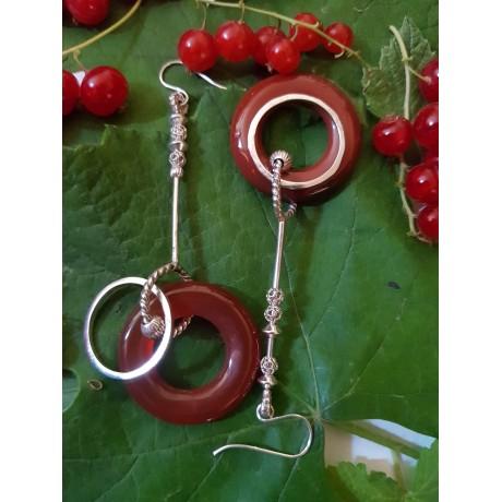Sterling silver Earrings Love Scales, Bijuterii de argint lucrate manual, handmade