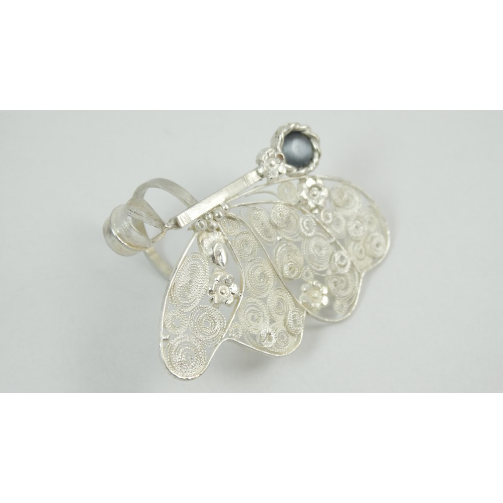 Sterling silver and pure filigree ring Perfume Fleuristique