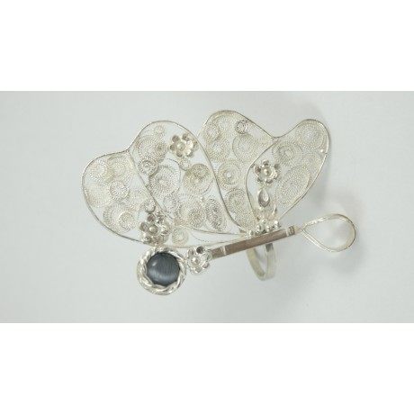 Sterling silver and pure filigree ring Perfume Fleuristique, Bijuterii de argint lucrate manual, handmade