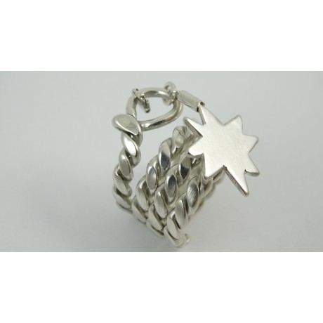 Sterling silver ring Heavy Intoxication, Bijuterii de argint lucrate manual, handmade