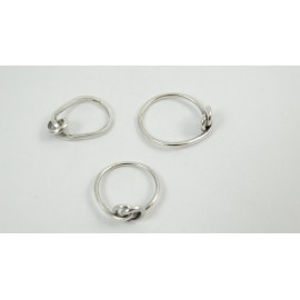 Sterling silver rings Love Knot