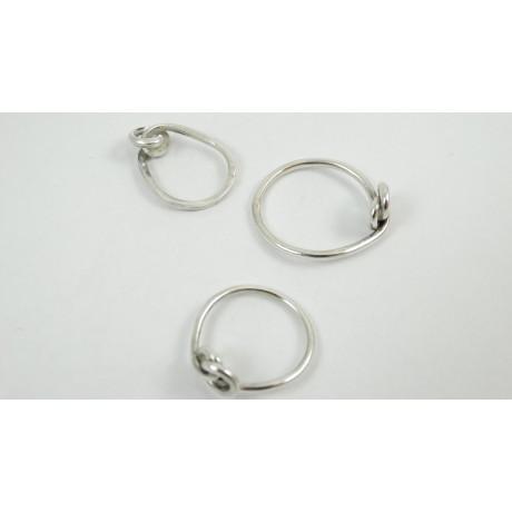 Sterling silver rings Love Knot, Bijuterii de argint lucrate manual, handmade