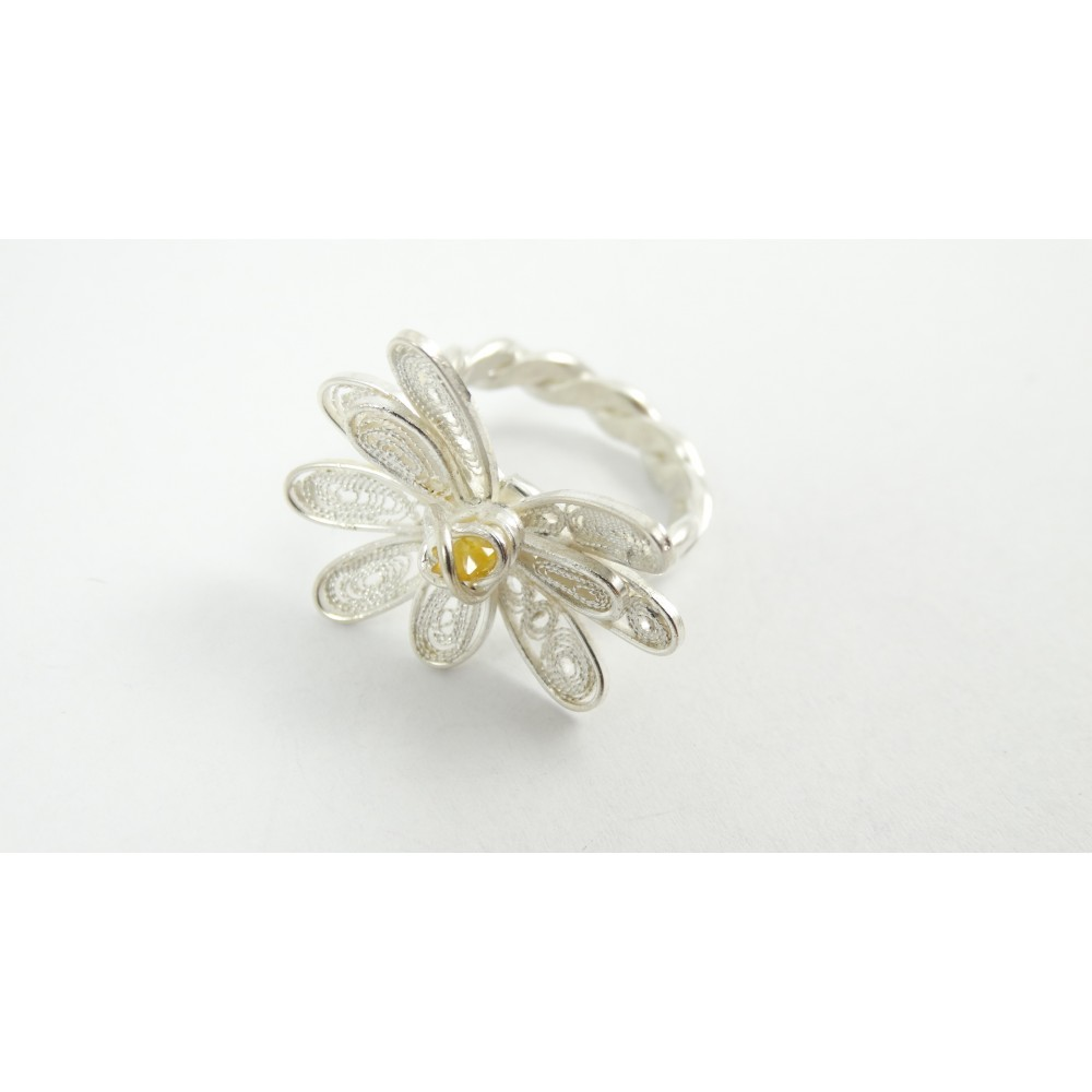 Sterling silver and pure filigree ring Beaucoup De Reve