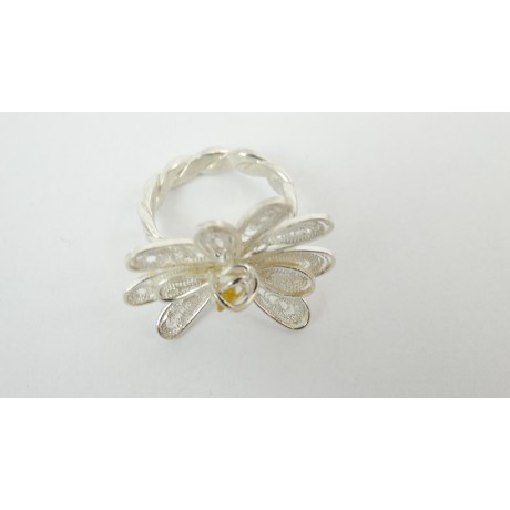 Sterling silver and pure filigree ring Beaucoup De Reve, Bijuterii de argint lucrate manual, handmade