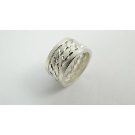 Sterling silver engagement ring Grammar of Love, Bijuterii de argint lucrate manual, handmade