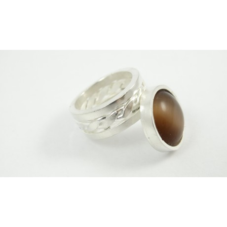 Sterling silver ring La Bella Nouvelle, Bijuterii de argint lucrate manual, handmade