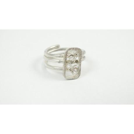 Sterling silver ring Switch, Bijuterii de argint lucrate manual, handmade